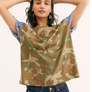 Free people Clarity Cotton Blend Tee